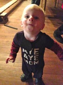 Little Adam got in on the fun too :-)