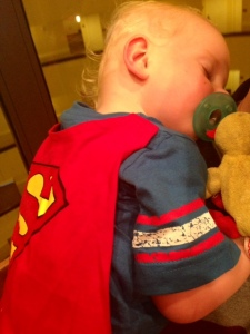 Even Superman needs a nap